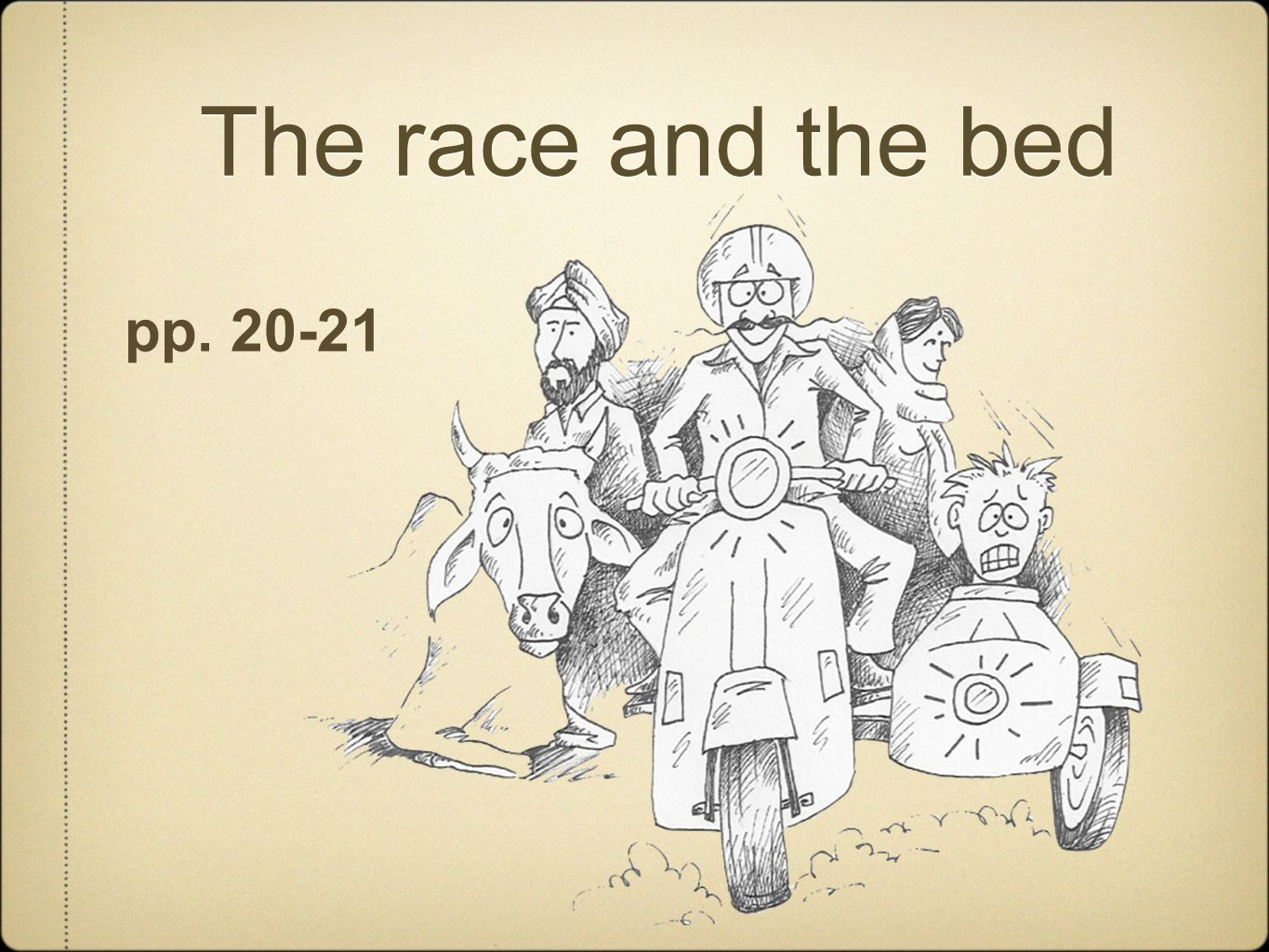 The race and the bed pp. 20-21