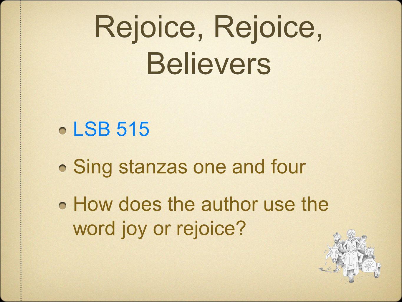 Rejoice, Rejoice, Believers