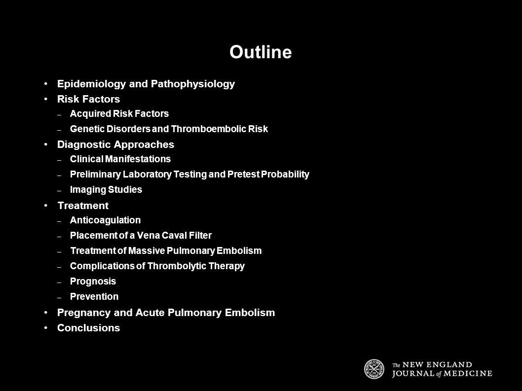 Outline Epidemiology and Pathophysiology Risk Factors