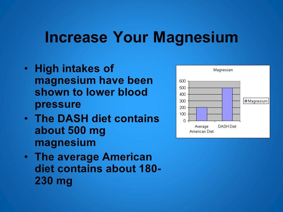 Increase Your Magnesium