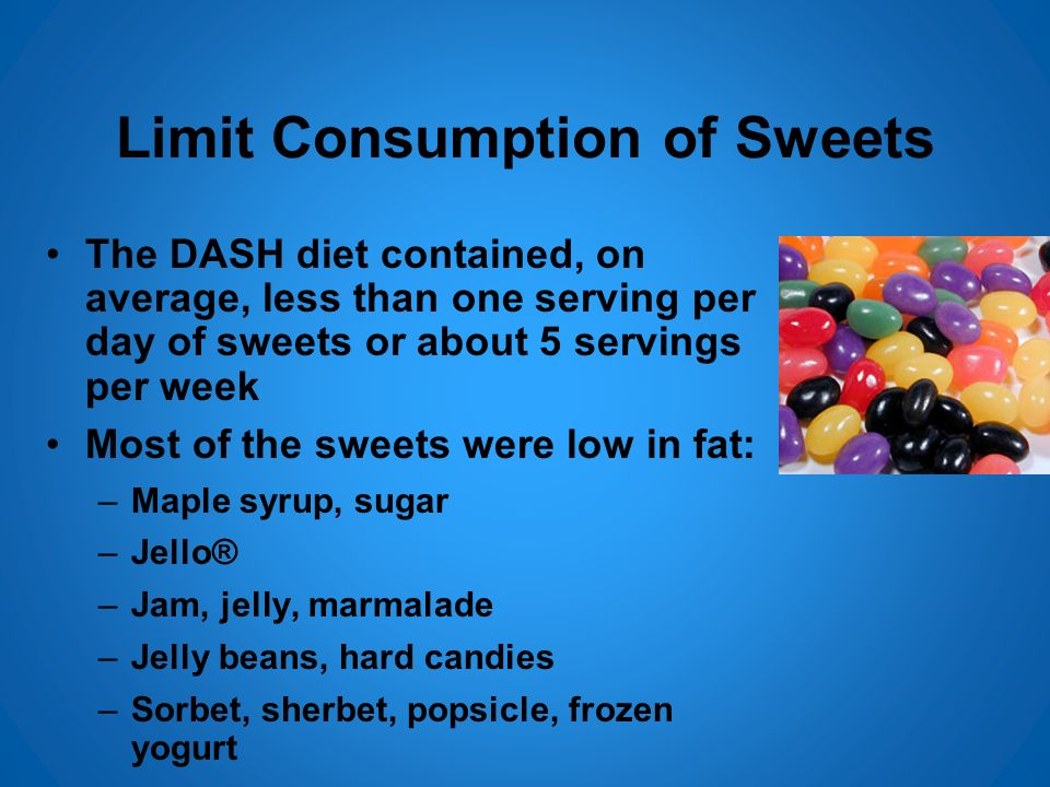 Limit Consumption of Sweets
