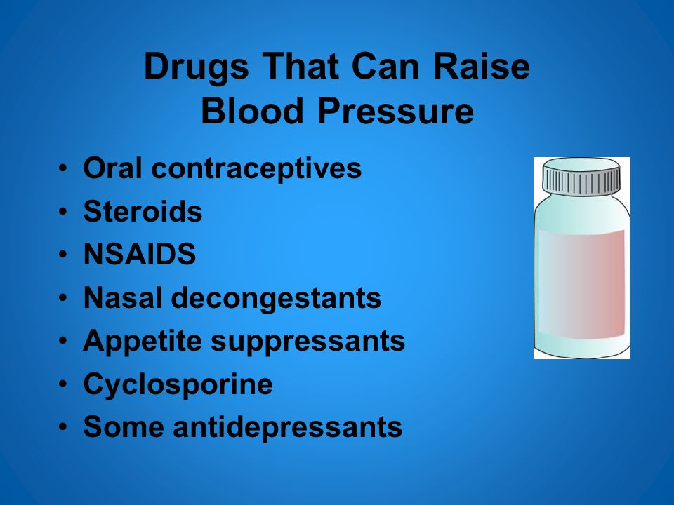 Drugs That Can Raise Blood Pressure