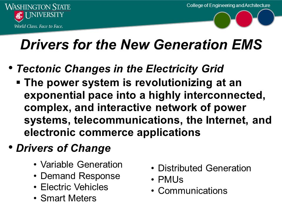 Drivers for the New Generation EMS