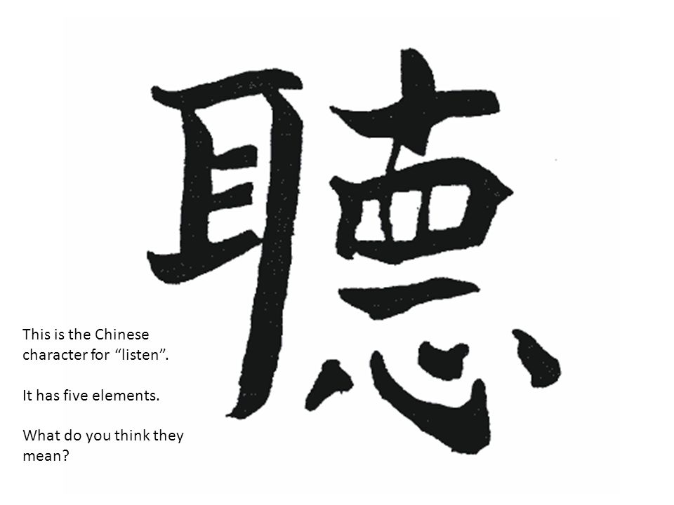 This is the Chinese character for listen .
