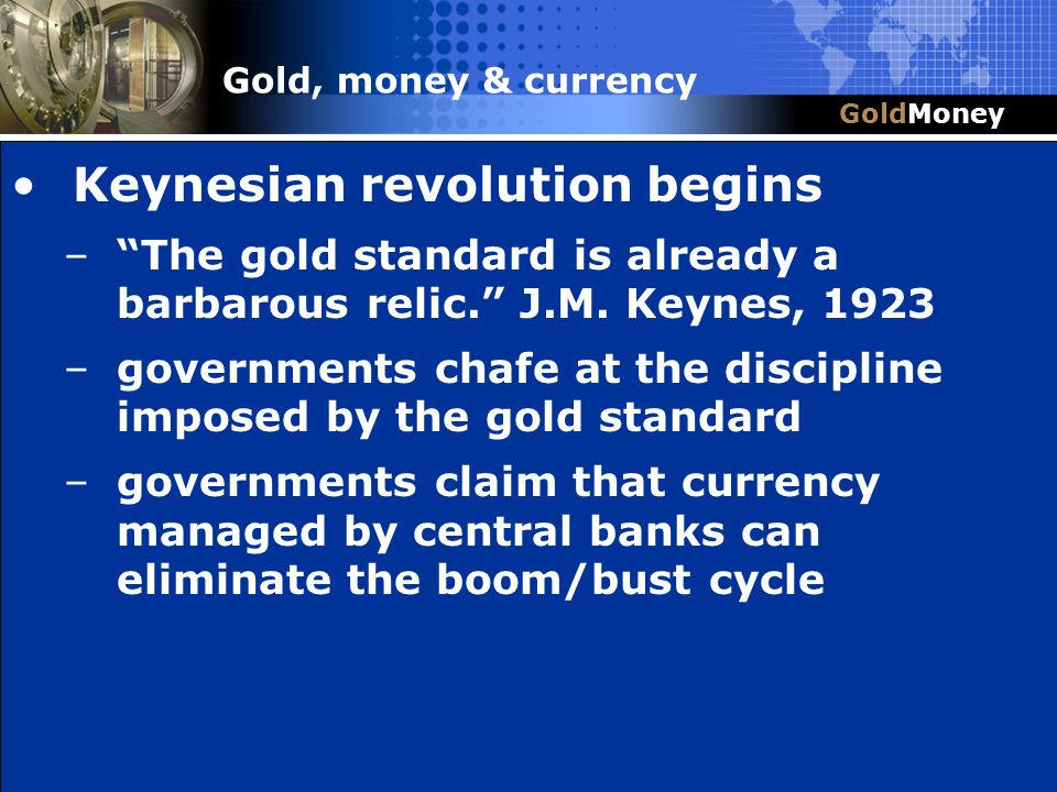 Keynesian revolution begins