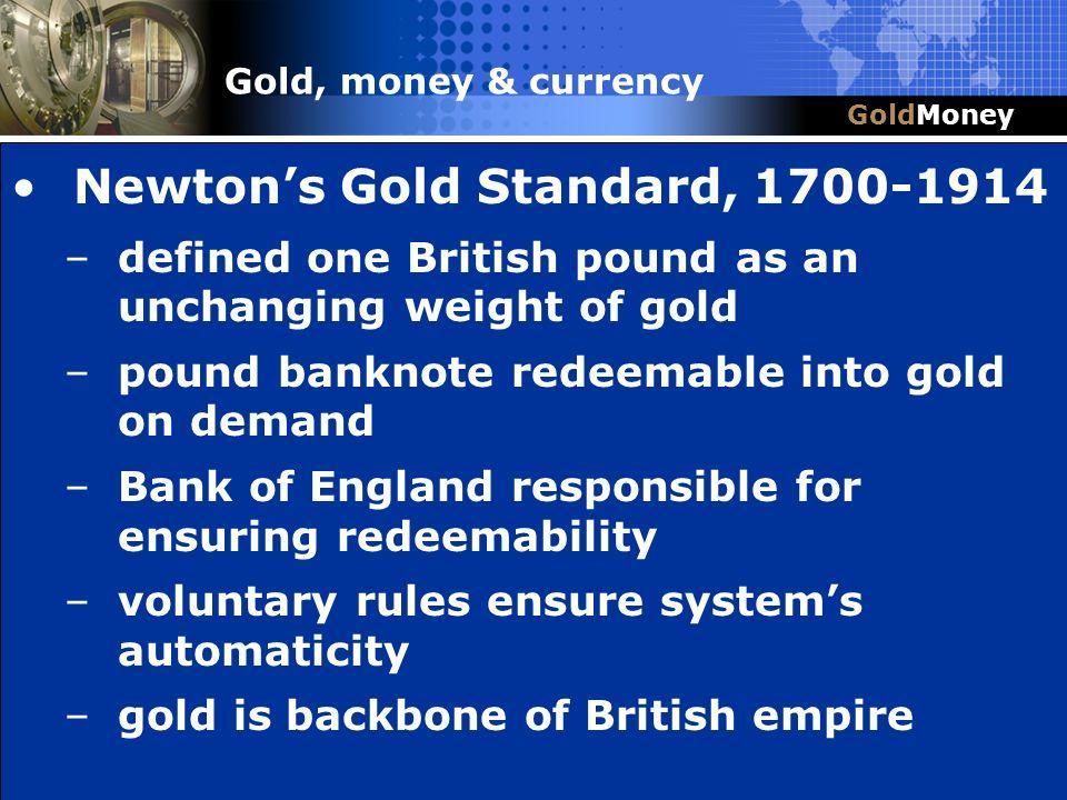 Newton's Gold Standard, 1700-1914