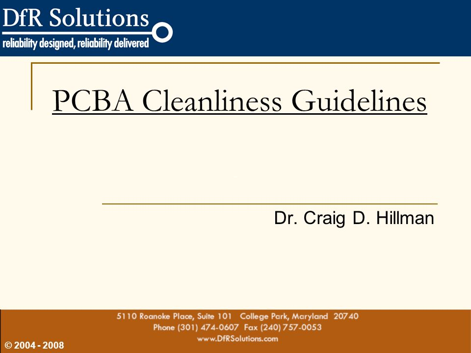 PCBA Cleanliness Guidelines