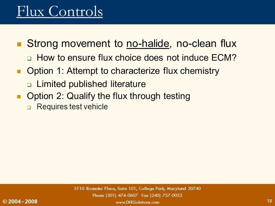Flux Controls Strong movement to no-halide, no-clean flux