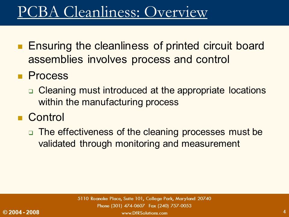 PCBA Cleanliness: Overview