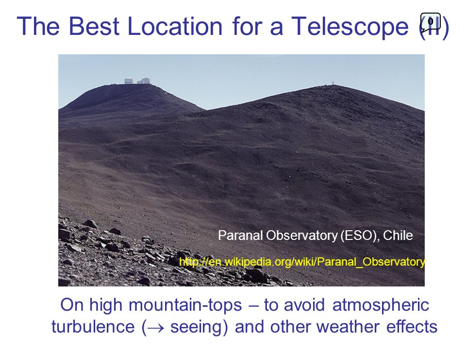 The Best Location for a Telescope (II)