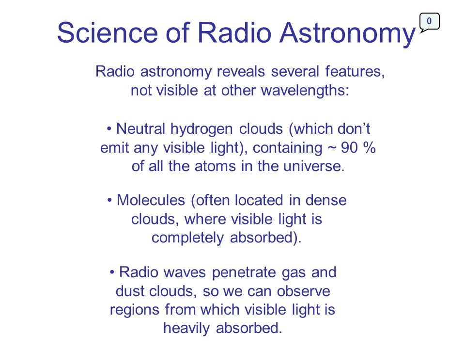 Science of Radio Astronomy