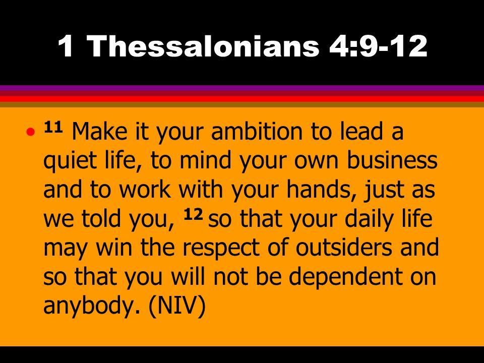 1 Thessalonians 4:9-12