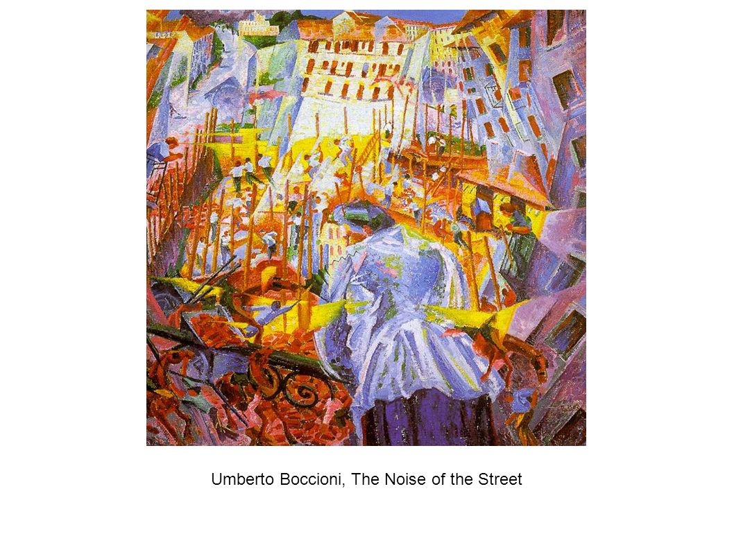 Umberto Boccioni, The Noise of the Street