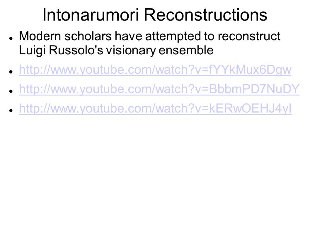 Intonarumori Reconstructions