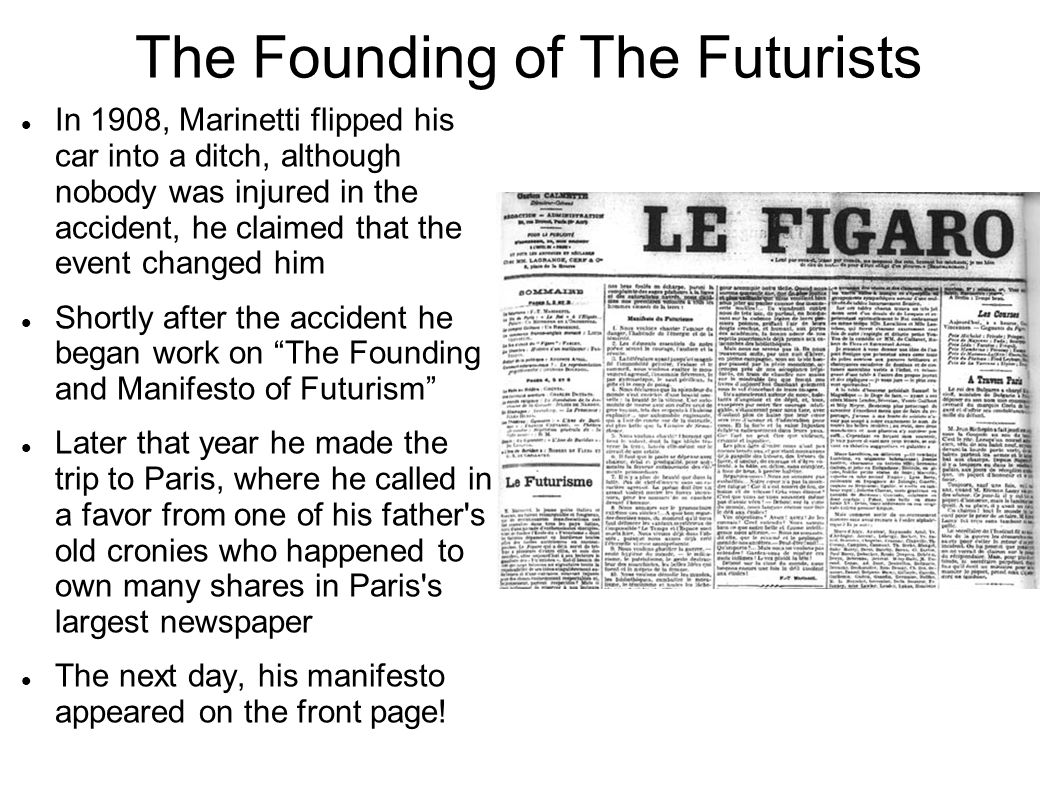 The Founding of The Futurists
