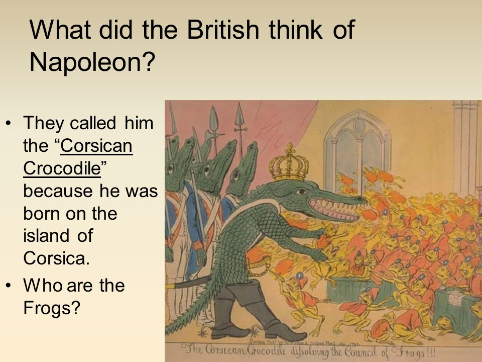 What did the British think of Napoleon