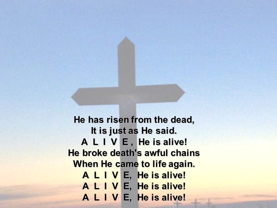 He has risen from the dead, It is just as He said.