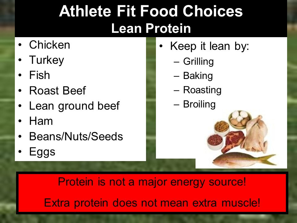 Athlete Fit Food Choices Lean Protein