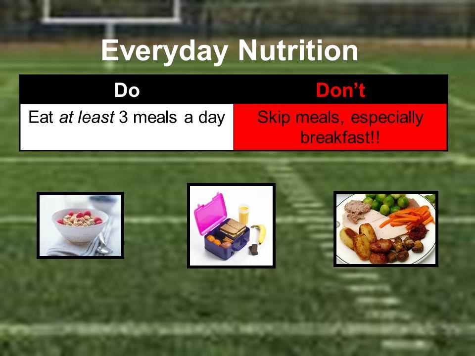 Skip meals, especially breakfast!!