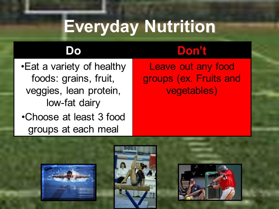 Everyday Nutrition Do Don't