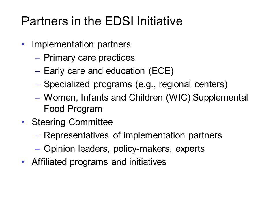 Partners in the EDSI Initiative