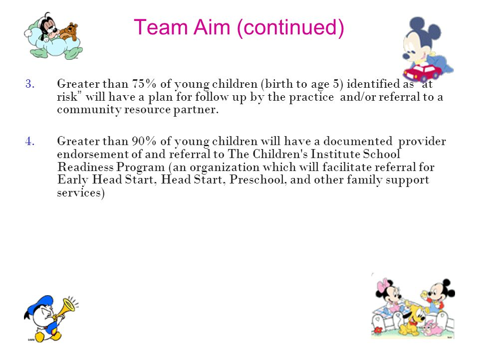 Team Aim (continued)