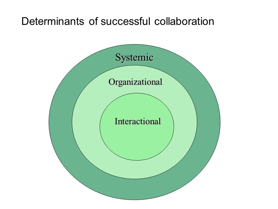 Determinants of successful collaboration