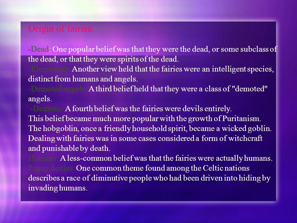 Origin of fairies: