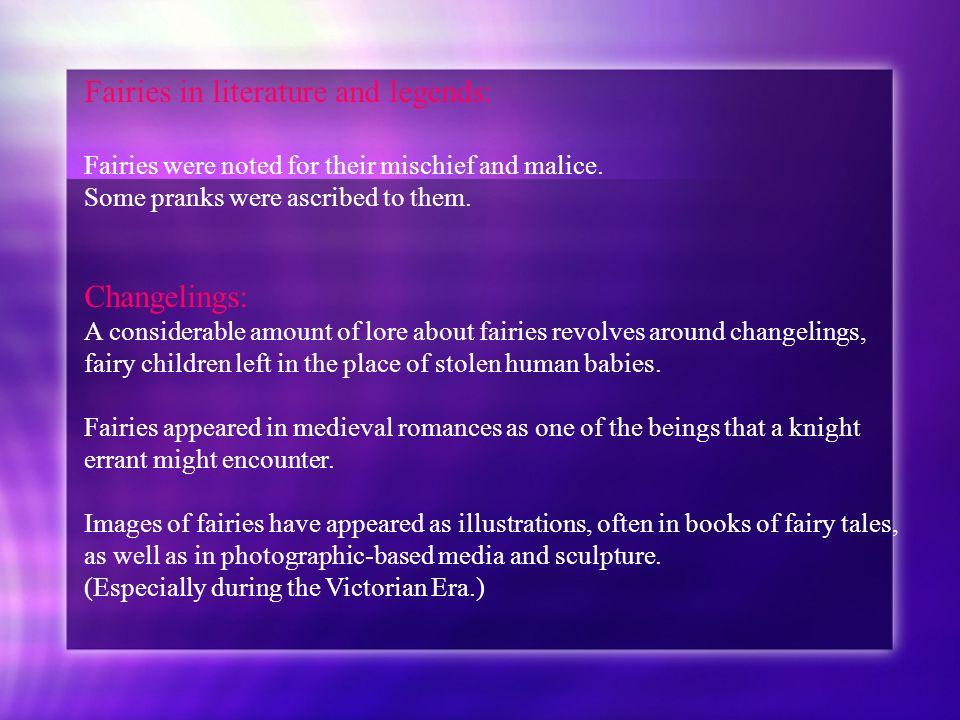 Fairies in literature and legends:
