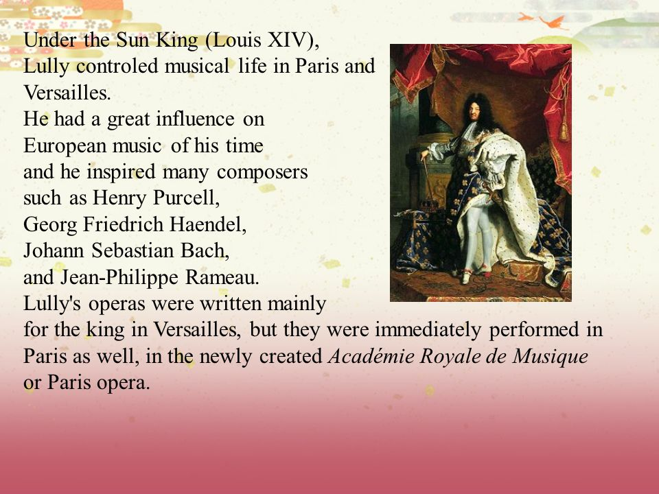 Under the Sun King (Louis XIV),