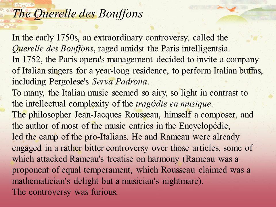 The Querelle des Bouffons