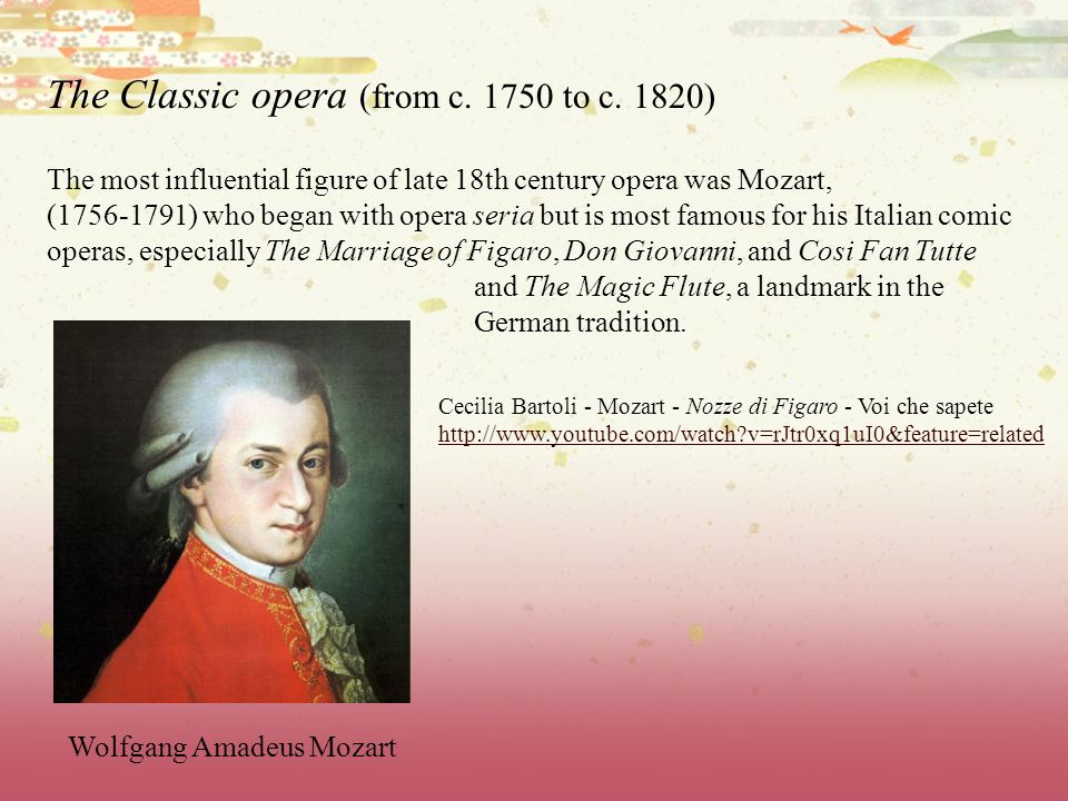 The Classic opera (from c. 1750 to c. 1820)