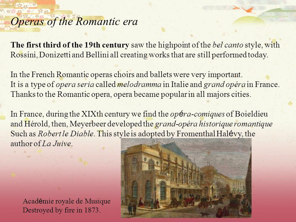 Operas of the Romantic era