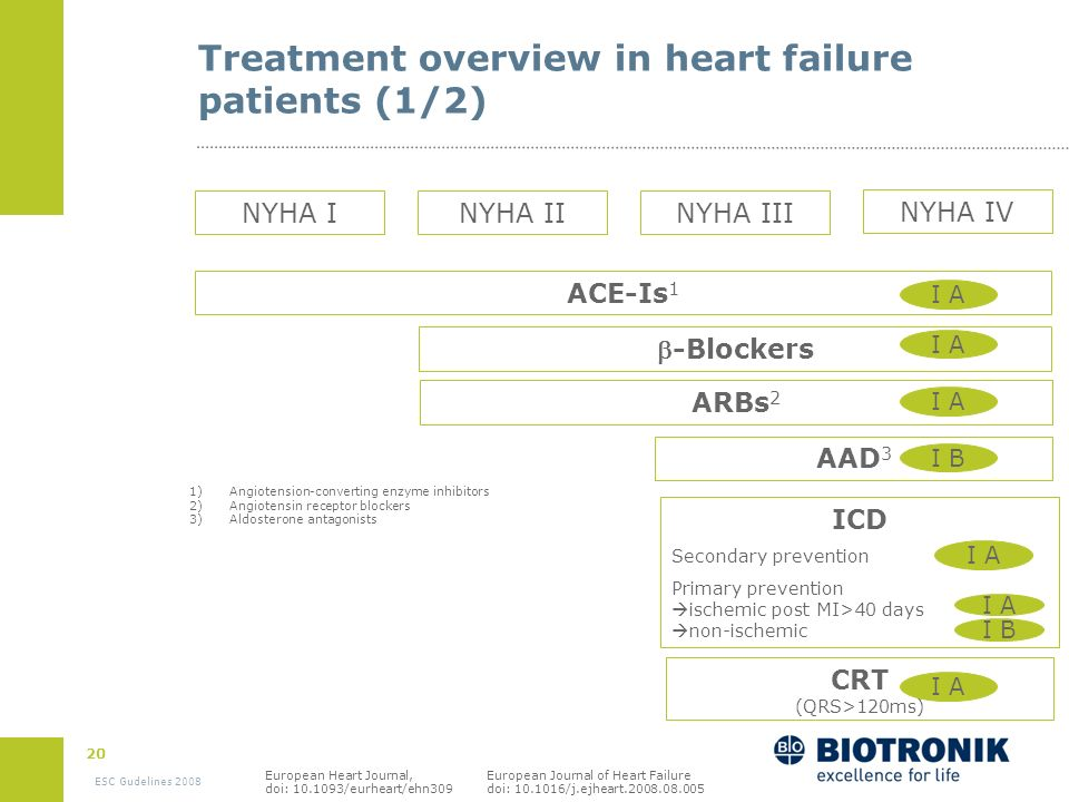 Treatment overview in heart failure patients (1/2)