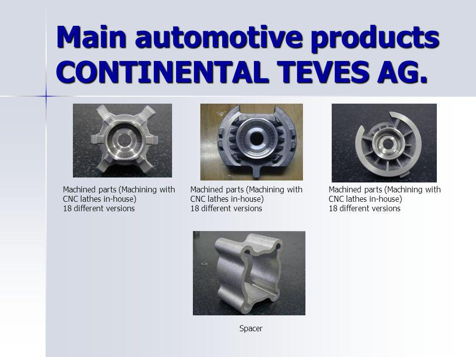 Main automotive products CONTINENTAL TEVES AG.