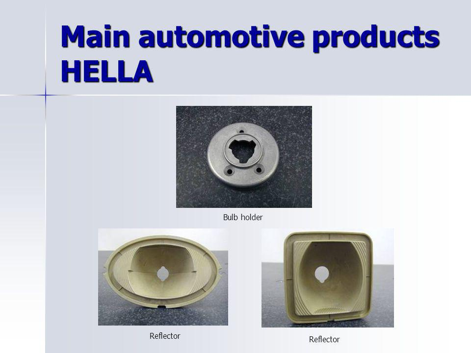 Main automotive products HELLA