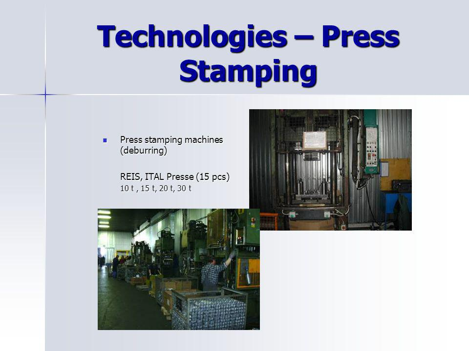 Technologies – Press Stamping