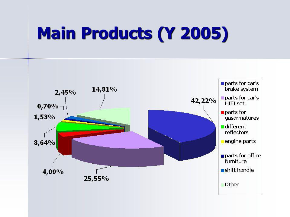 Main Products (Y 2005)