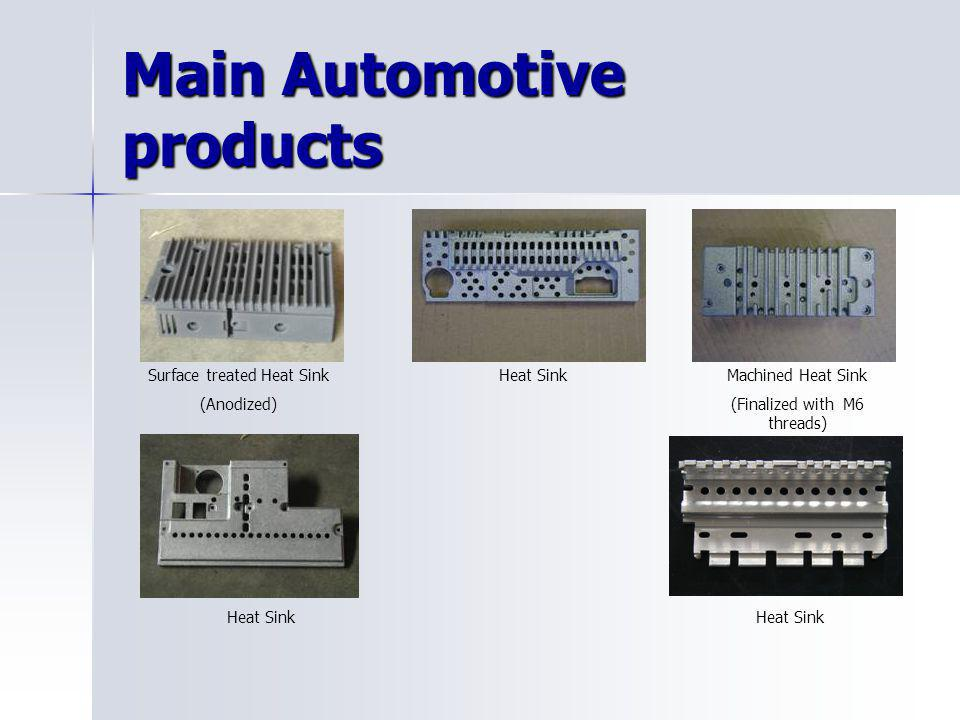 Main Automotive products