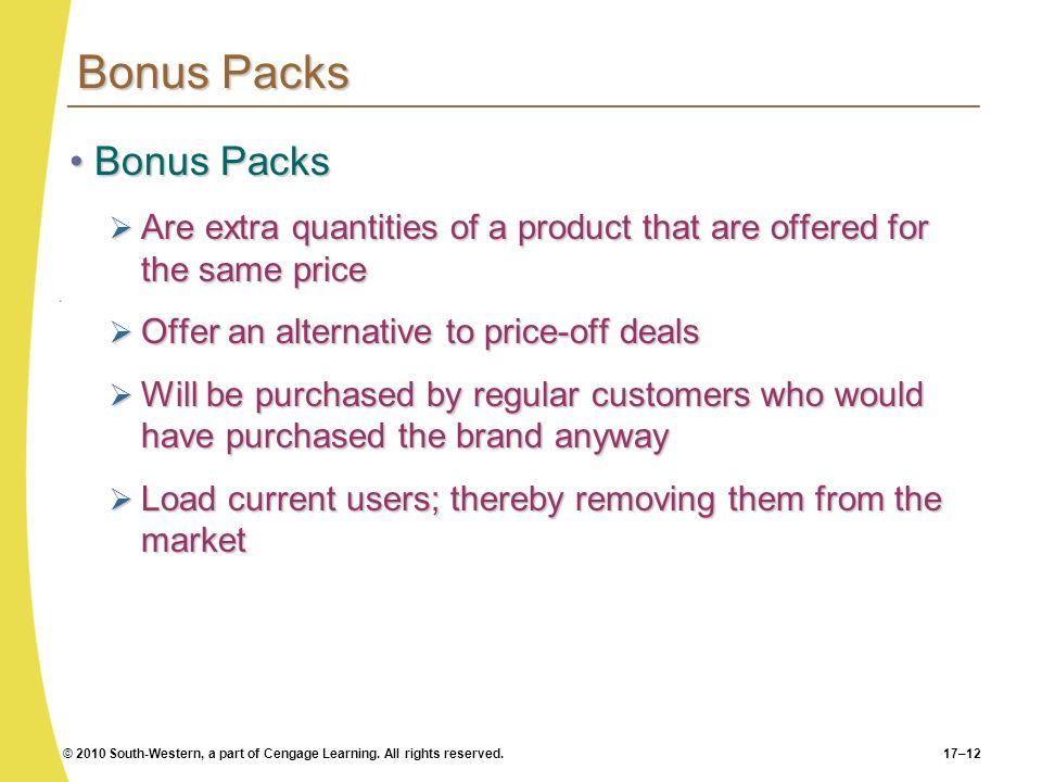 Bonus Packs Bonus Packs