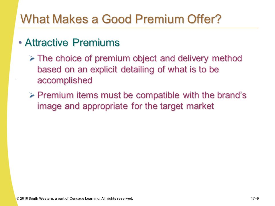 What Makes a Good Premium Offer