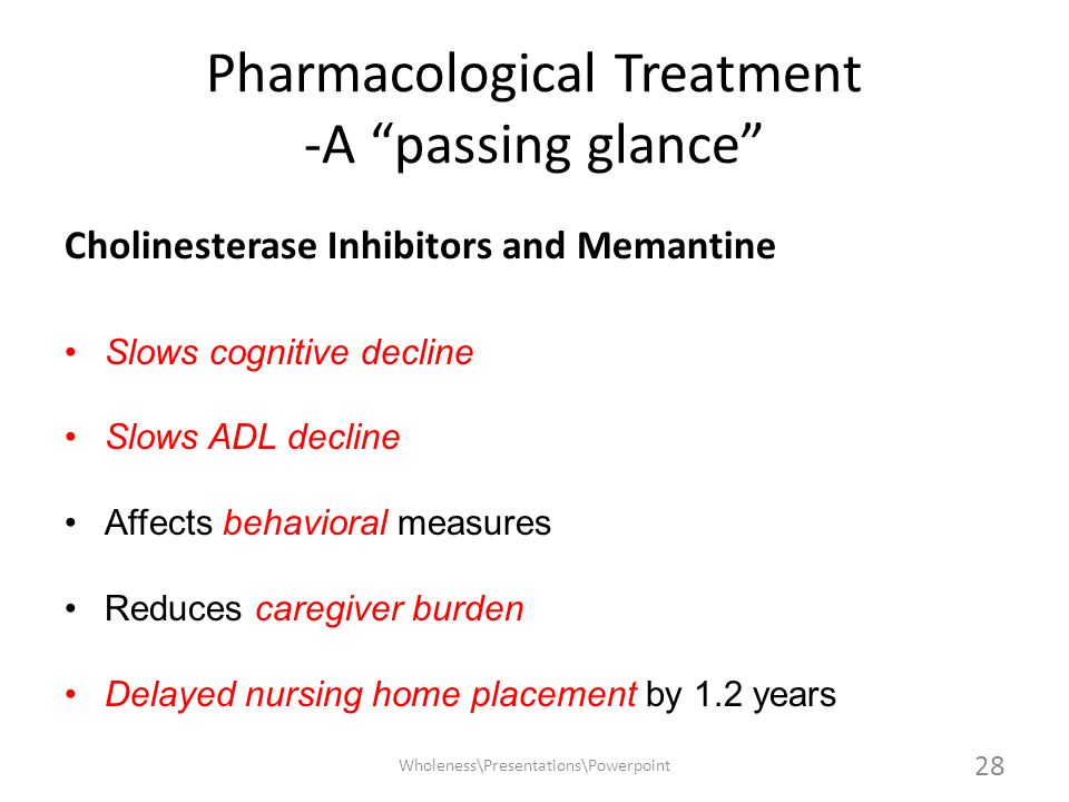 Pharmacological Treatment -A passing glance