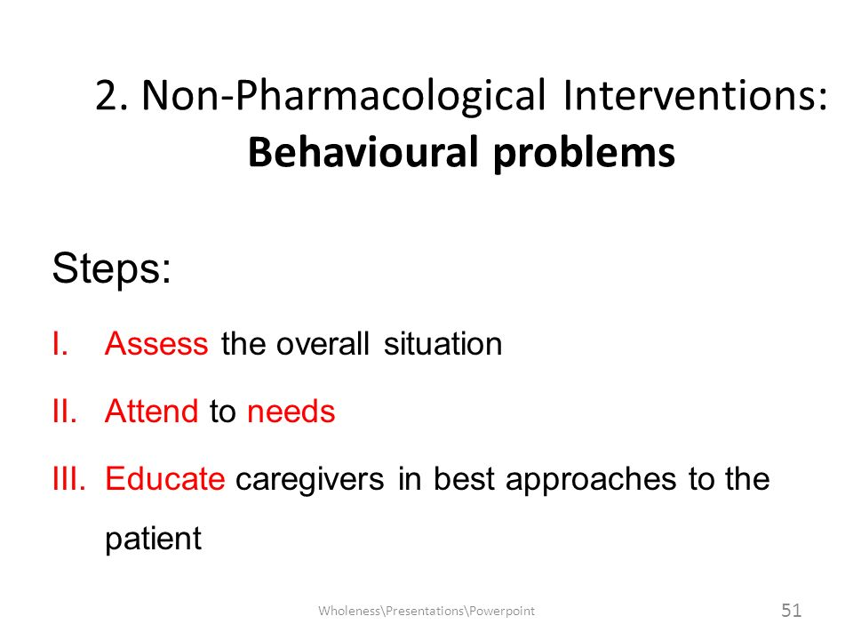 2. Non-Pharmacological Interventions: Behavioural problems