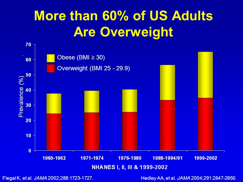 More than 60% of US Adults Are Overweight
