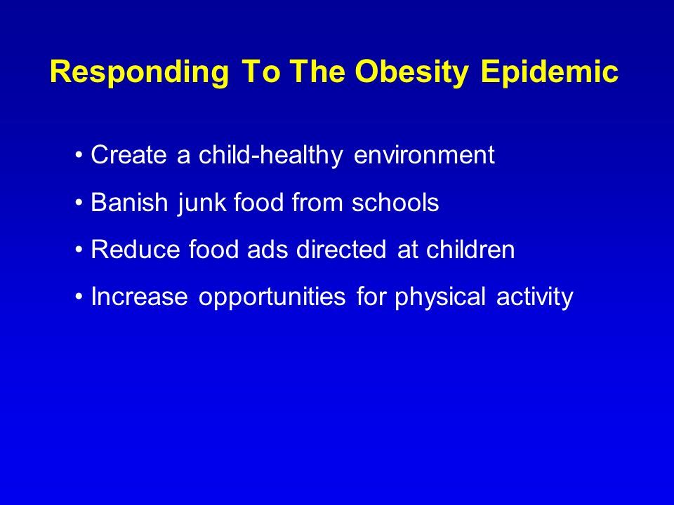 Responding To The Obesity Epidemic