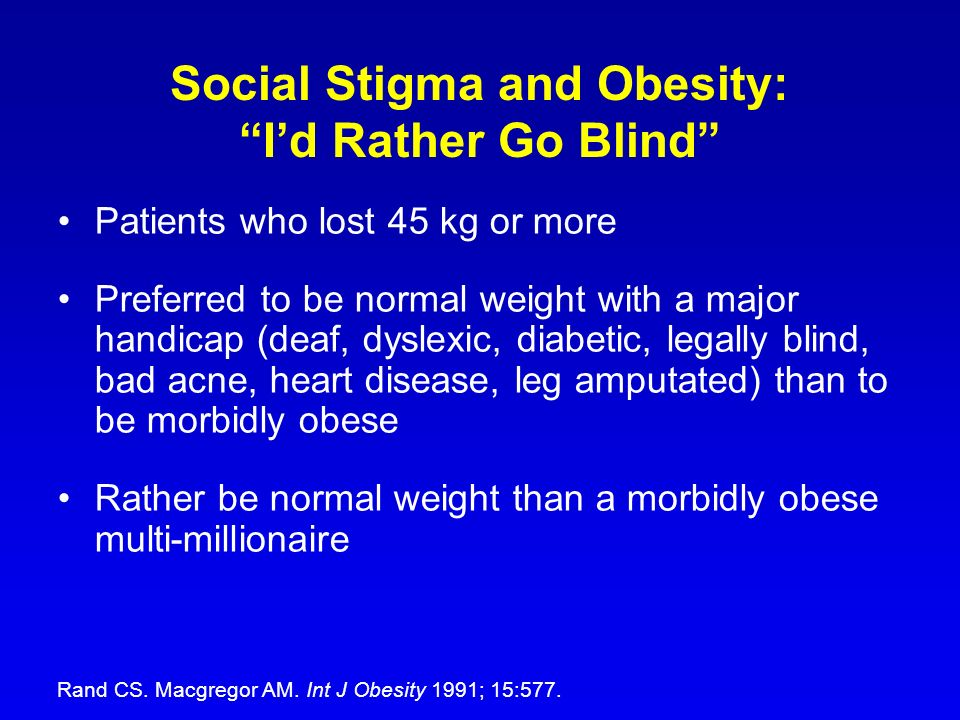 Social Stigma and Obesity: