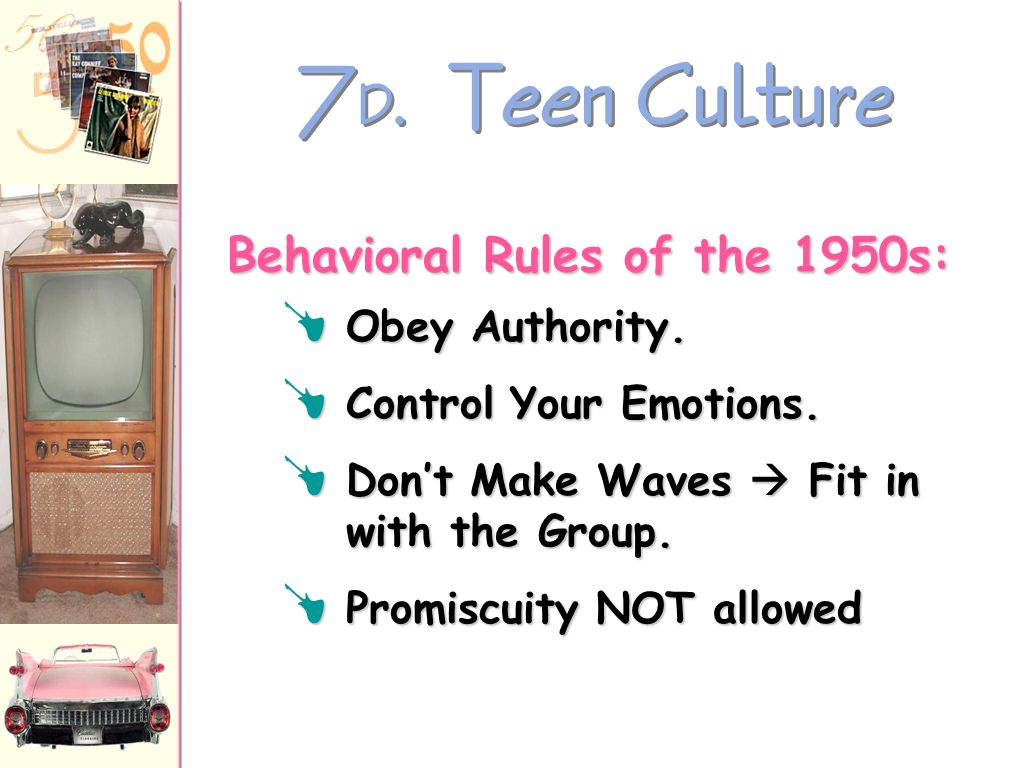 Behavioral Rules of the 1950s: