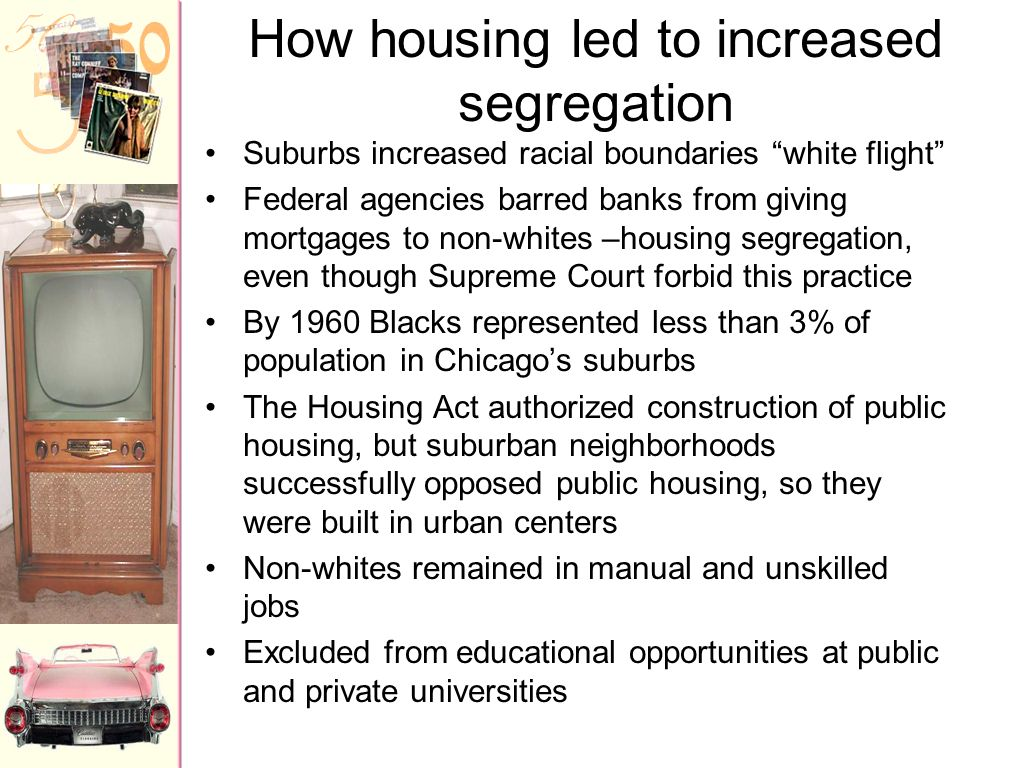How housing led to increased segregation