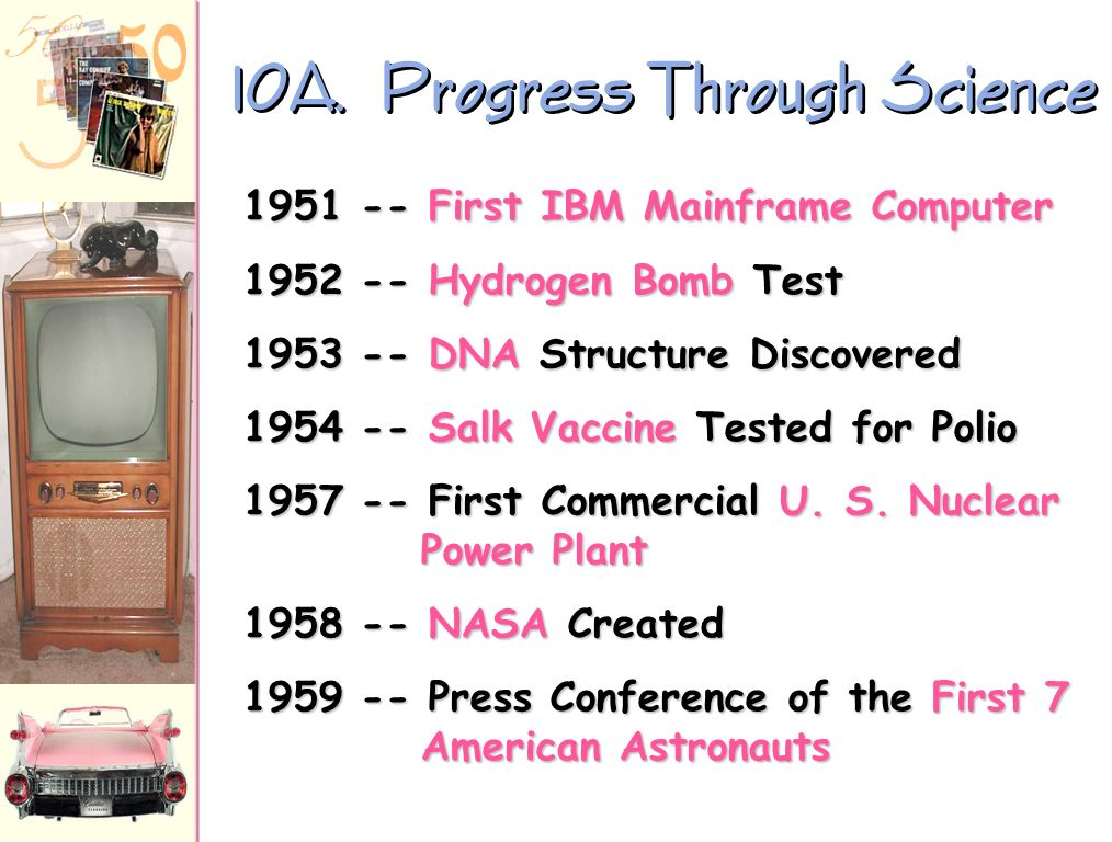 10A. Progress Through Science