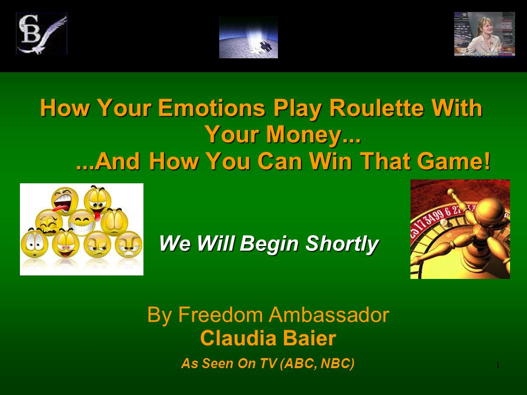 How Your Emotions Play Roulette With Your Money